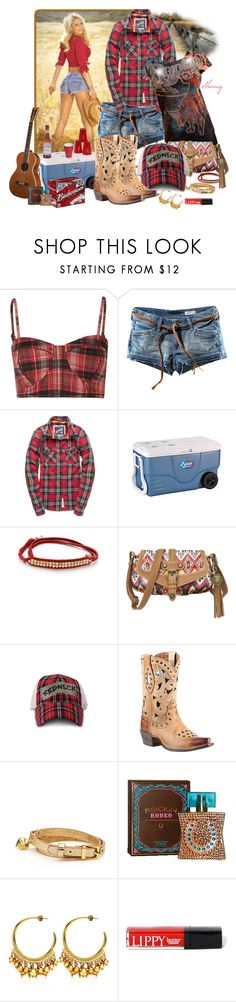 """""""Redneck Chic by Sheniq"""" by sheniq ❤ liked on Polyvore featuring Full Tilt, H&M, Superdry, Coleman, Shashi, Nine West, A2 by Aerosoles, Ariat, Juicy Couture and Butter London"""