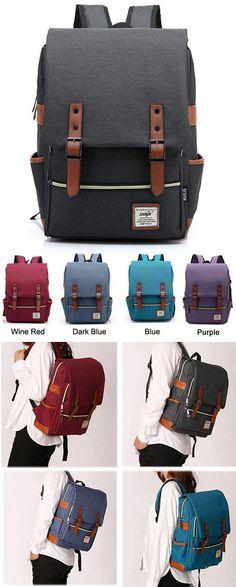 Vintage Canvas Travel Backpack Leisure Backpack&Schoolbag for big sale! #leisure #canvas #travel #vintage #backpack #bag #school #college #student #girl #travel #rucksack