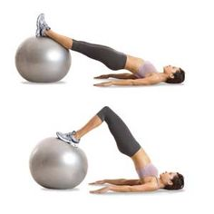 Workout moves - stability ball hamstring curl! Love this one..