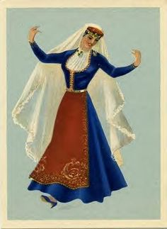 Armenian folk dance costumes....I used to be in a Armenian Dance Group and dresses like this