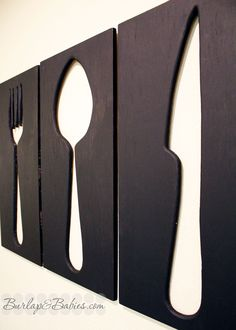 dining room wall art | giant utensils.