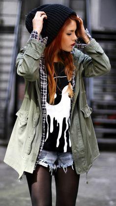 Look 1: ~Grunge Goddess~ Fall 2013 Trend Inspiration: Knit Beanies! #7LooksFallChallenge