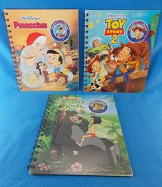Story Reader 3 Storybook Pinocchio The Jungle Book Toy Story 2 NO CARTRIDGE #Disney