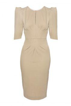 ecru structured dress
