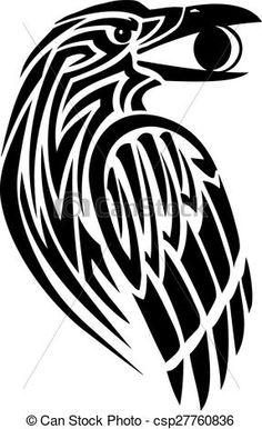 Image result for simple celtic raven
