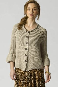 Lovely free cardi pattern DK weight  -by Irina P. for Tahki Stacey Charles