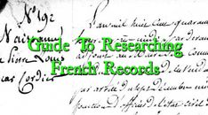 Guide To Researching French Records