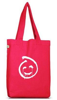 Shirtstreet24, Red John Smiley, Jutebeutel Stoff Tasche Earth Positive (ONE SIZE), Größe: onesize,Hot Pink - http://herrentaschenkaufen.de/shirtstreet24/one-size-shirtstreet24-red-john-smiley-stoff-one-6