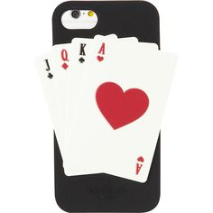 kate spade Deck of Cards iPhone 7 Case - Black Multi - Phone Cases (€42) ❤ liked on Polyvore featuring accessories, tech accessories, black and kate spade