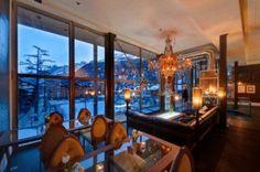 Backstage Hotel Zermatt, Switzerland. Looks like 'Alice in the Wondersnow'.