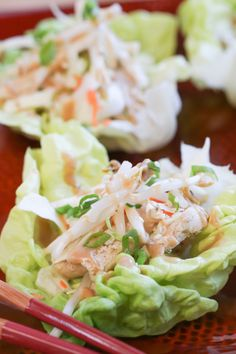 Thai Chicken Lettuce Wraps | foodnfocus.com