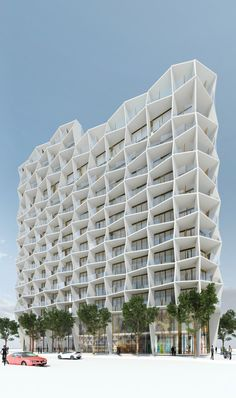 Studio Gang Architectshas released designs for a 14-story residential tower in the Miami Design District. Anchored by ground floor retail and topped