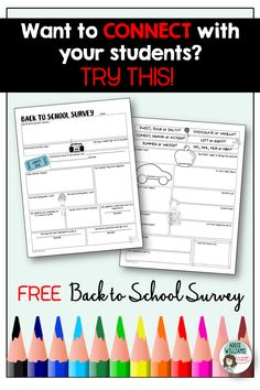 Addie Williams - Teacher Talk: Fun Back to School Student Survey High School First Day, Middle School Ela, Middle School English, Middle School Classroom, Beginning Of The School Year, Future Classroom, Special Education Activities, High School Activities, First Day Of School Activities