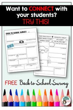 Addie Williams - Teacher Talk: Fun Back to School Student Survey