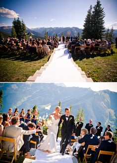 This is what happens on Aspen Mountain in the summer.  Beautiful place for a wedding.  Aspen, CO