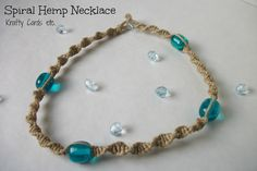 I used to LOVE making these. And now you can buy artificial hemp in bright colors! -Brita  Spiral Hemp Necklace