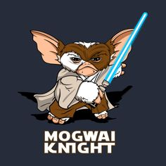 Shop Mogwai Knight gizmo t-shirts designed by TintadeChicle as well as other gizmo merchandise at TeePublic. Les Gremlins, Gremlins Gizmo, Arte Horror, Horror Art, Horror Movies, Disney Crossovers, Star Wars Fan Art, Game Logo, Planner