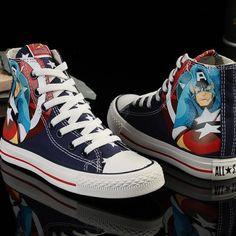 Captain America Marvel Comics Converse | IdolStore