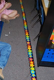 use border for a number line. Use starbursts for game pieces. Roll a die then add that many to the number you had before. Who can get to the end first and eat their game piece? Math Strategies, Math Resources, Math Activities, Math Classroom, Kindergarten Math, Teaching Math, Math Projects, Classroom Projects, School Fun