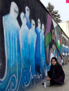 Shamsia Hassani Grafiti en Afganistan Arte y Valor00 Shamsia Hassani Graffiti en Afganistan Arte y Valor