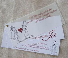 Einladungskarte Hochzeit ♥ Einladung Danksagung