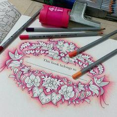 Tirando ferrugens das mãos..... #diadecor #coloringbook #arteterapia #colors #adultcoloring #marcoraffine #johannabasford #magicaljungle #kum #derwent #arteconceito #karinaandrade @arte.conceito