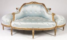 LXV STYLE ANTIQUE CARVED GILTWOOD PARLOR SUITE : Lot 91
