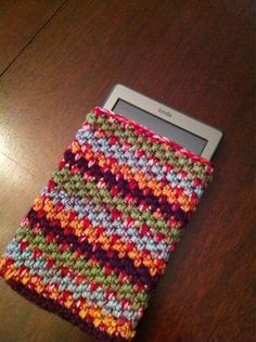"Free pattern for ""Pebbly iPhone Cozy"" by Culture Clash Adventures in Topeka!"