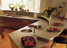 Round Kitchen Island a kitchen for entertaining | apartment kitchen, kitchens and