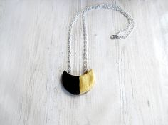 Modern cold porcelain necklace gold black contemporary jewelry birthday present bohemian necklace bridal jewelry elite jewelry eye catching