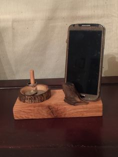 A personal favorite from my Etsy shop https://www.etsy.com/listing/257376449/iphone-docking-station-iphone-stand