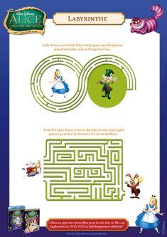 Cahier Alice Au Pays Des Merveilles Labyrinthe, page 13 sur 18 sur HugoLescargot.com