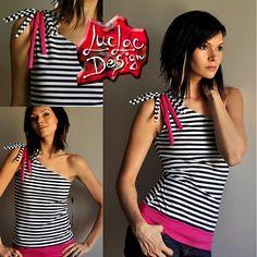 LucLac / asymetric stripe top