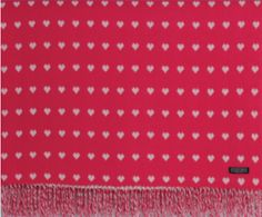 Foxford Lambswool Petunia Heart Throw. You're sure to fall in love with this pink throw!