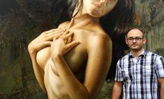 25 Hyper-Realistic Oil Paintings of Female form by artist Omar Ortiz. Follow us www.pinterest.com/webneel