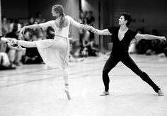 Guillaume Côté and Heather Ogden in rehearsal forNijinsky. Photo by Bruce Zinger