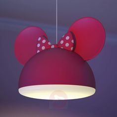 Minnie Mouse Pendant Light with Ears Red Kid Spaces, Cool Things To Buy, Table Lamp, Ceiling Lights, Lighting, Home Decor, Ears, Pendant, Furniture