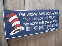Dr. Seuss Sign  The Places You Will Go  The More That by GaroSigns, $32.99