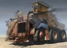 Post-apoc battle wagon