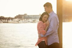 A sweet engagement photo in Baltimore. Photo by @kathy_hertel