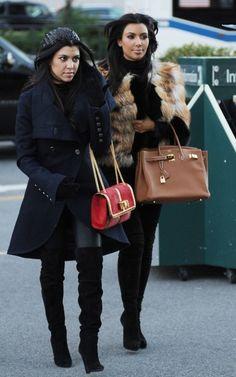 winter-kourtney-kardashian-kim-kardashian-coat-fur-hermes