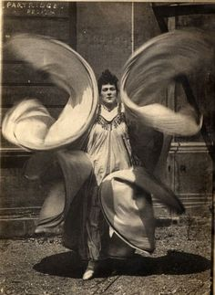 Loie Fuller? Captured by the Punch cartoonist Linley Sambourne