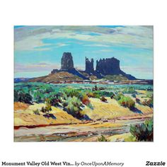 Monument Valley Old West Vintage Poster