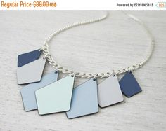 2016 SALE Formica Kites Delicate Necklace, pastels gold silver plated bib colorful diamond shaped geometric jewelry