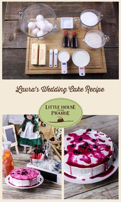 Laura's Wedding Cake Recipe - Traditional and Blueberry Topping Variation - Little House on the Prairie Vintage Recipes, Unique Recipes, Cake Recipes, Dessert Recipes, Blueberry Topping, Angel Food Cake, Angel Cake, Cool Wedding Cakes, Savoury Cake