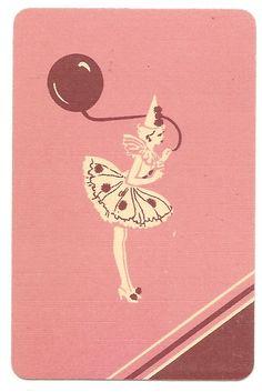 Vintage playing card.