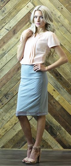 Overlay Pencil Skirt [MSS2956] - $34.99 : Mikarose Boutique, Reinventing Modesty