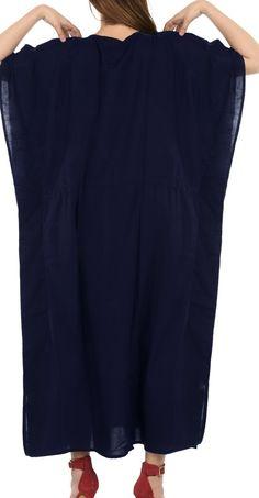 1f5733f240bfe LA LEELA - Beach Dress Deep Neck Women's Rayon Designer kaftan night wear  Long Kaftan Dress - Walmart.com