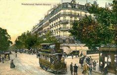 Boulevard Saint Michel в 1900 году