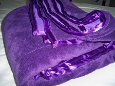 Softly purple blanket, Wow!!! I want that so bad!!! The shade of purple is gorgeous!!!